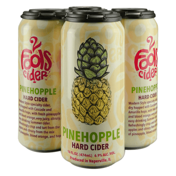 2 Fools Pinehopple 4-pack