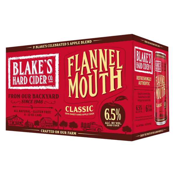Blake's Cider Flannel Mouth 6-pack