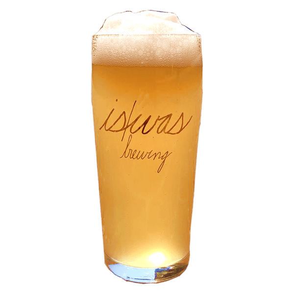 Is/Was Brewing Gold Foil Logo 330ml Glass