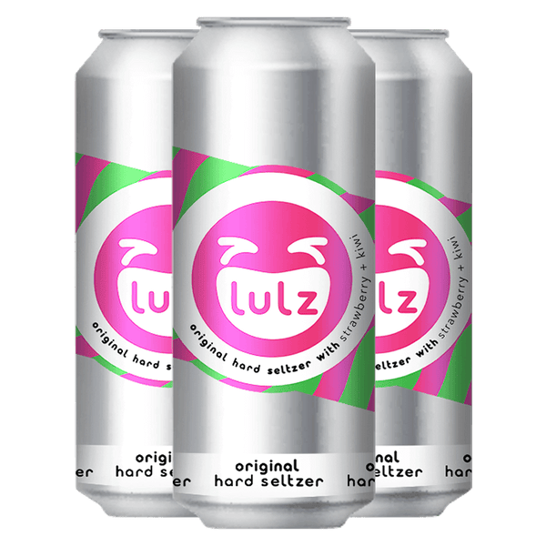 LULZ Hard Seltzer Original: Strawberry + Kiwi 4-pack