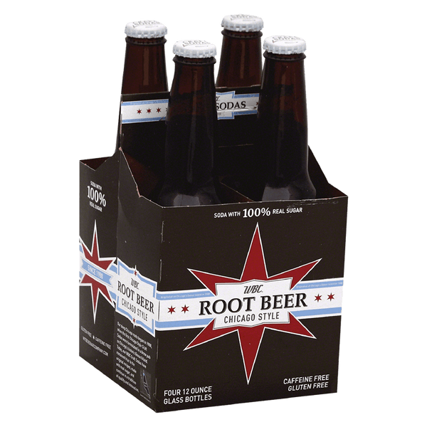 WBC Root Beer Soda 4-pack