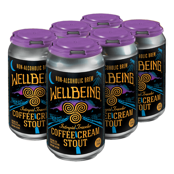WellBeing Non-Alcoholic Intrepid Traveler Coffee Cream Stout 6-pack
