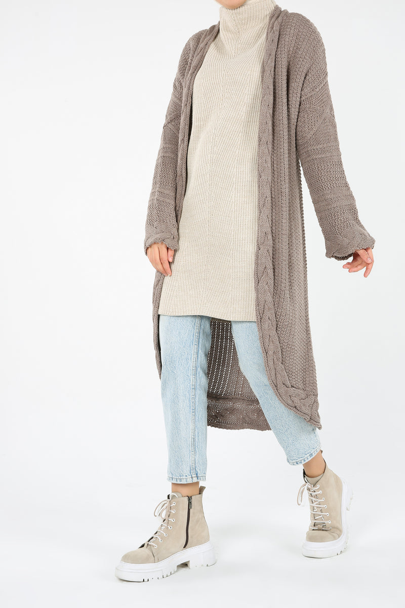 Knitwear Cardigan - Mink Color