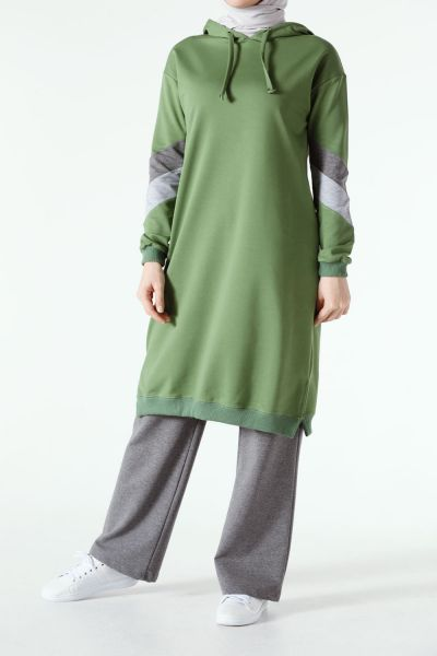 Hooded Activewear - Green