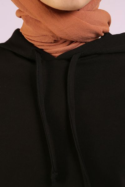 Hooded Activewear -  Black