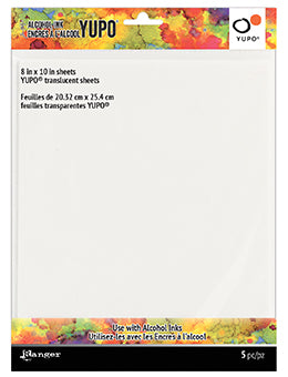 Tim Holtz Alcohol Ink Yupo White - 8x10 inch 5 pack
