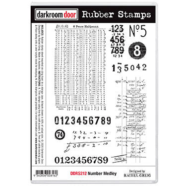 Darkroom Door Rubber Stamp - Number Medley
