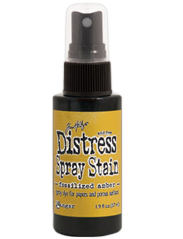 Distress Spray Stain - Fossilized Amber