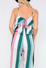 Layered Flounce Cami Strap Flare Leg Jumpsuit