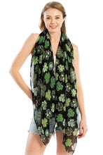 Load image into Gallery viewer, Fashion Chiffon Clover Print Scarf