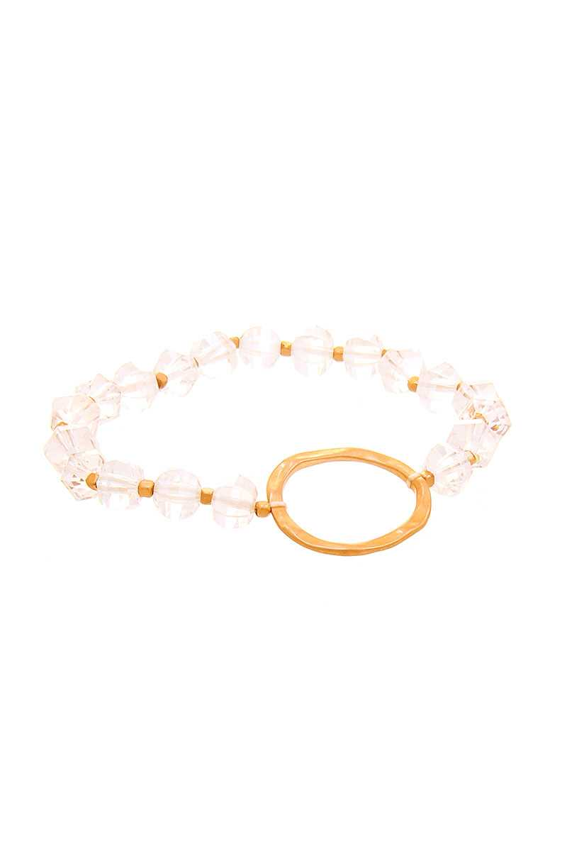 Crystal Linked Circle Shape Bracelet