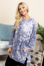 Load image into Gallery viewer, Ultra Cozy Tie Dye French Terry Brush Oversize Casual Pullover