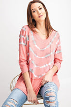 Load image into Gallery viewer, 3/4 Sleeves Special Washed Boxy Cotton Slub Top