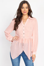 Load image into Gallery viewer, Flounce Hem Polka Dot Blouse