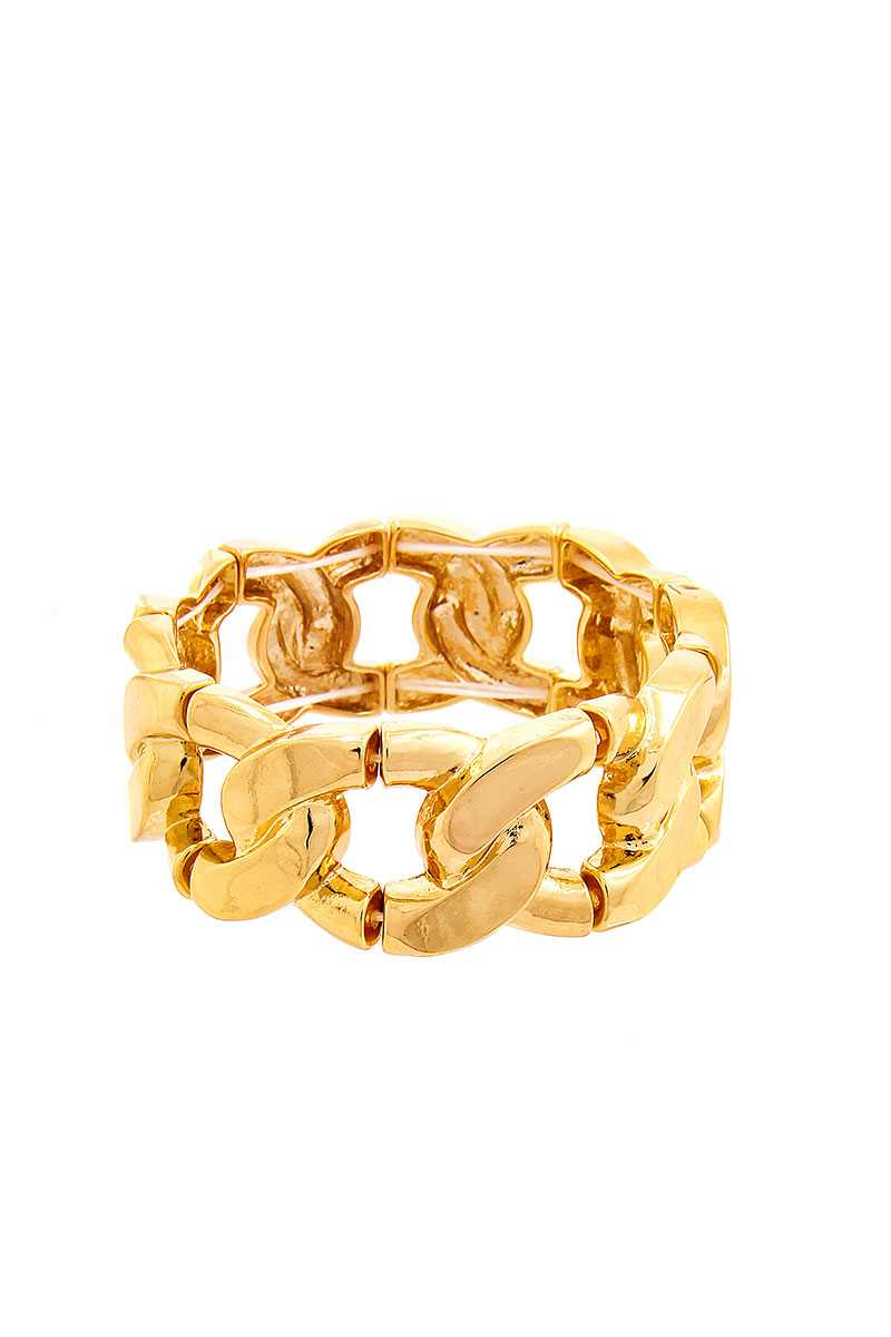 Stretchable Thick Chain Shape Bracelet