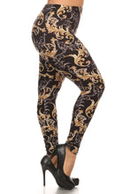 Load image into Gallery viewer, Plus Size Paisley Print, Full Length Leggings In A Slim Fitting Style With A Banded High Waist