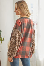 Load image into Gallery viewer, Plaid Patterned Long Sleeve Top
