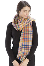 Load image into Gallery viewer, Colored Plaid Checkered Scarf