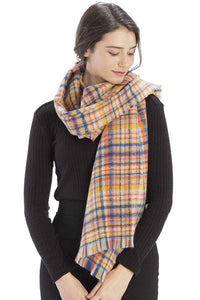 Colored Plaid Checkered Scarf