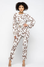 Load image into Gallery viewer, Brushed Animal Long Sleeve Loose Top W Sweatpants Set