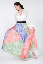 Load image into Gallery viewer, Color Block Pleated Maxi Skirt