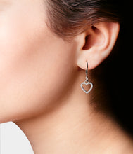Load image into Gallery viewer, Heart to Heart Dangly Earrings In 18ct Gold
