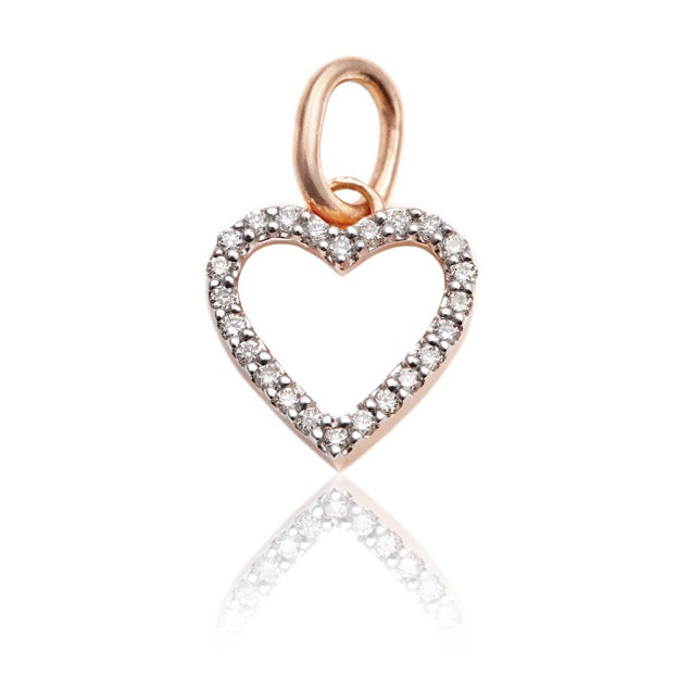 Diamond Studded My Heart Pendant In Rose Gold