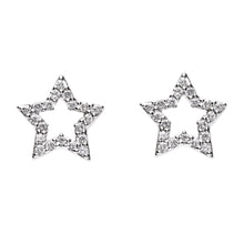 Load image into Gallery viewer, Twin Stars Diamond Earrings