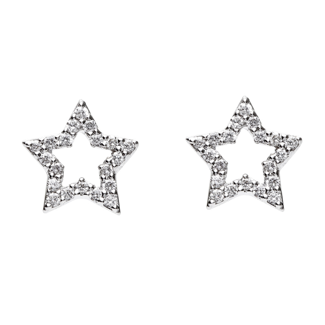 Twin Stars Diamond Earrings