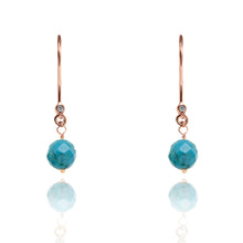Load image into Gallery viewer, Turquoise Drop Earrings December Birthstone