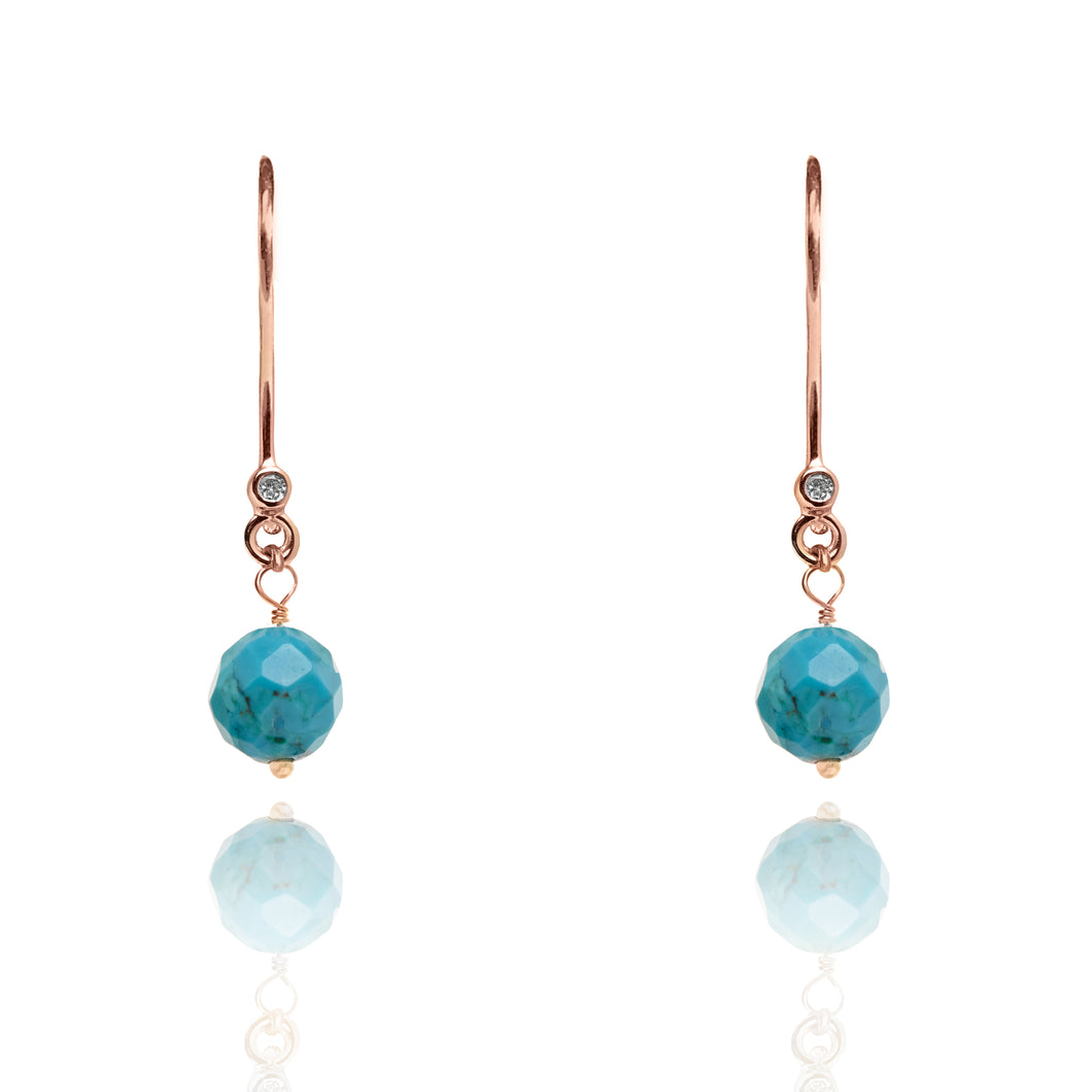 Turquoise Drop Earrings December Birthstone