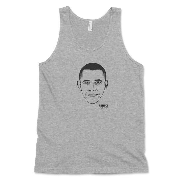 Change Tank Top Reelect Obama Heather Grey XS