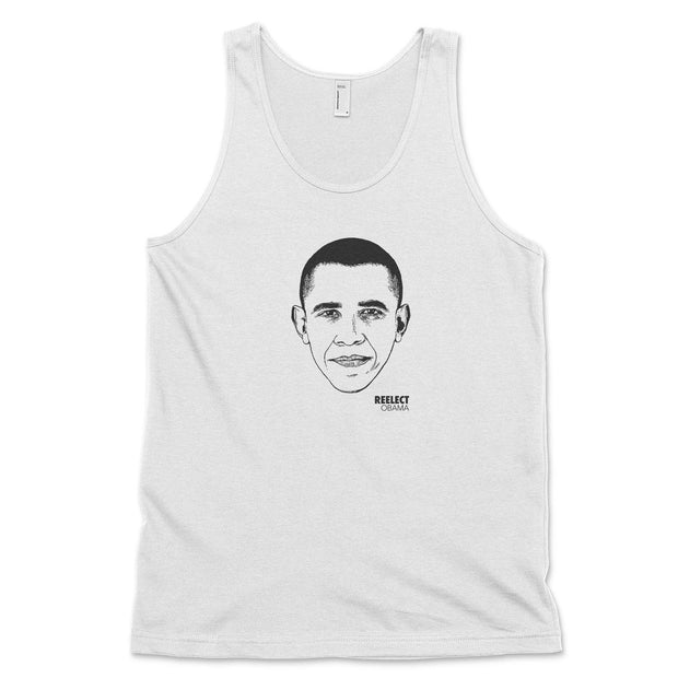 Change Tank Top Reelect Obama White XS