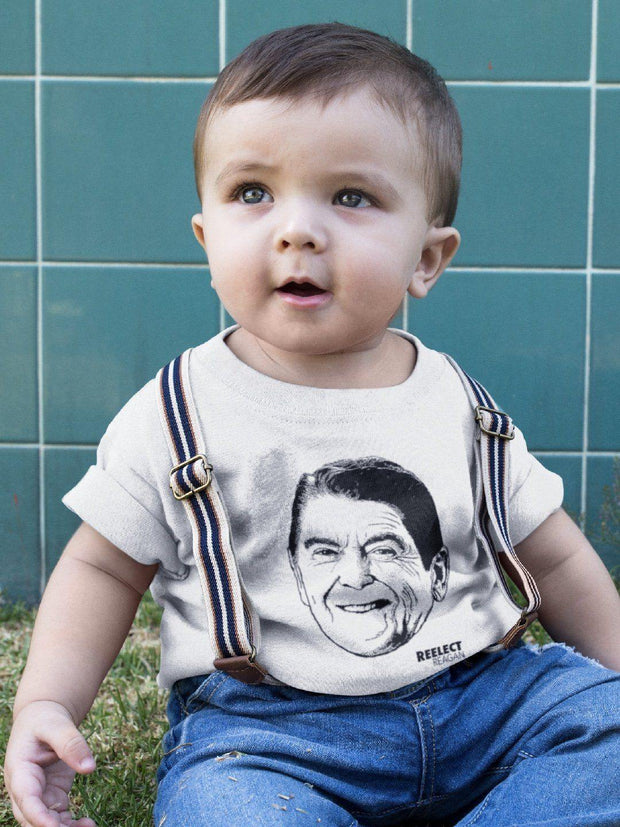 Morning Again in America Baby Tee Baby Shirt Reelect Reagan