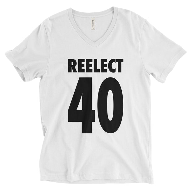 Reelect 40 v-neck V-neck Reelect Reagan White XS