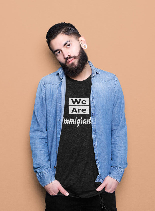 We Are Immigrants track tee T-Shirt Old News Co.