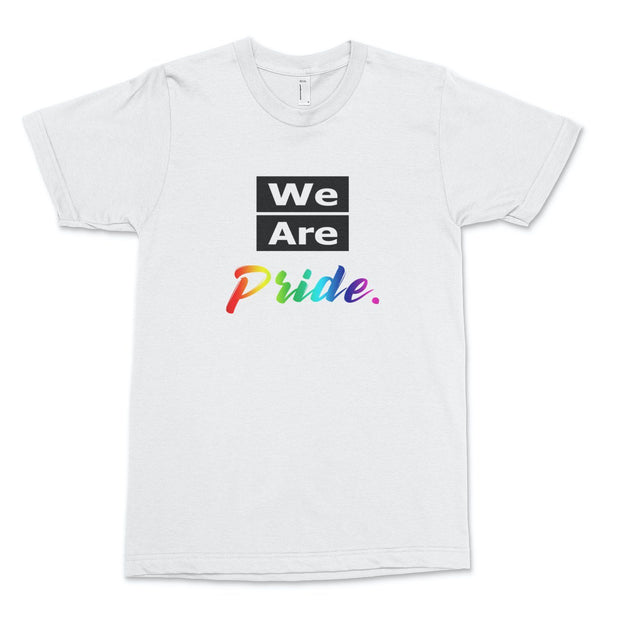 We Are Pride T-Shirt Old News Co. Men/Unisex White XS