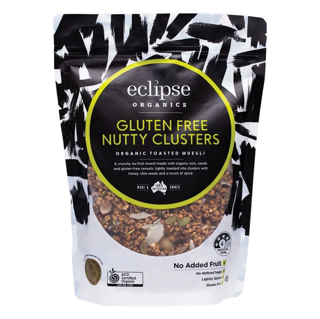 Eclipse Organic Toasted Gluten Free Nutty Clusters (400g) (box of 6)