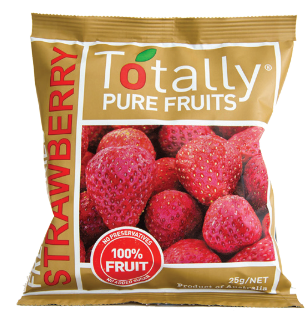 Totally Pure Fruits Freeze Dried Strawberries (25g) (box of 12)