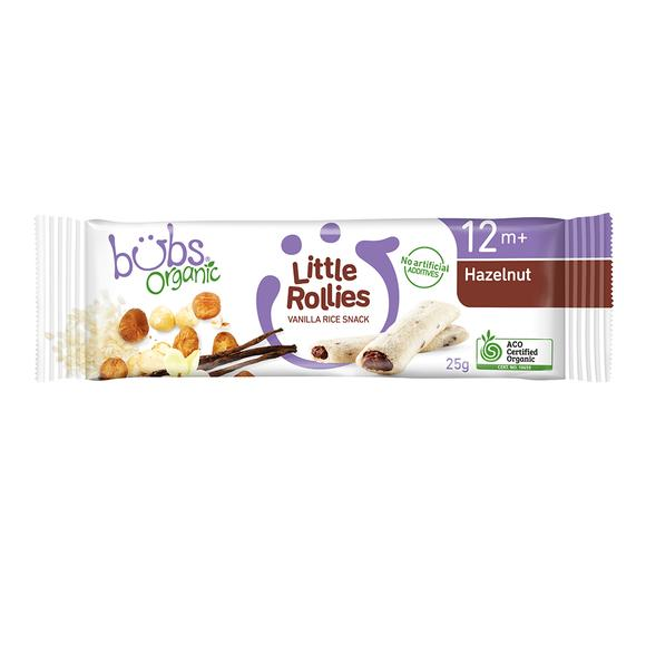 Bubs® Organic Little Rollies Hazelnut (25g) (box of 24)