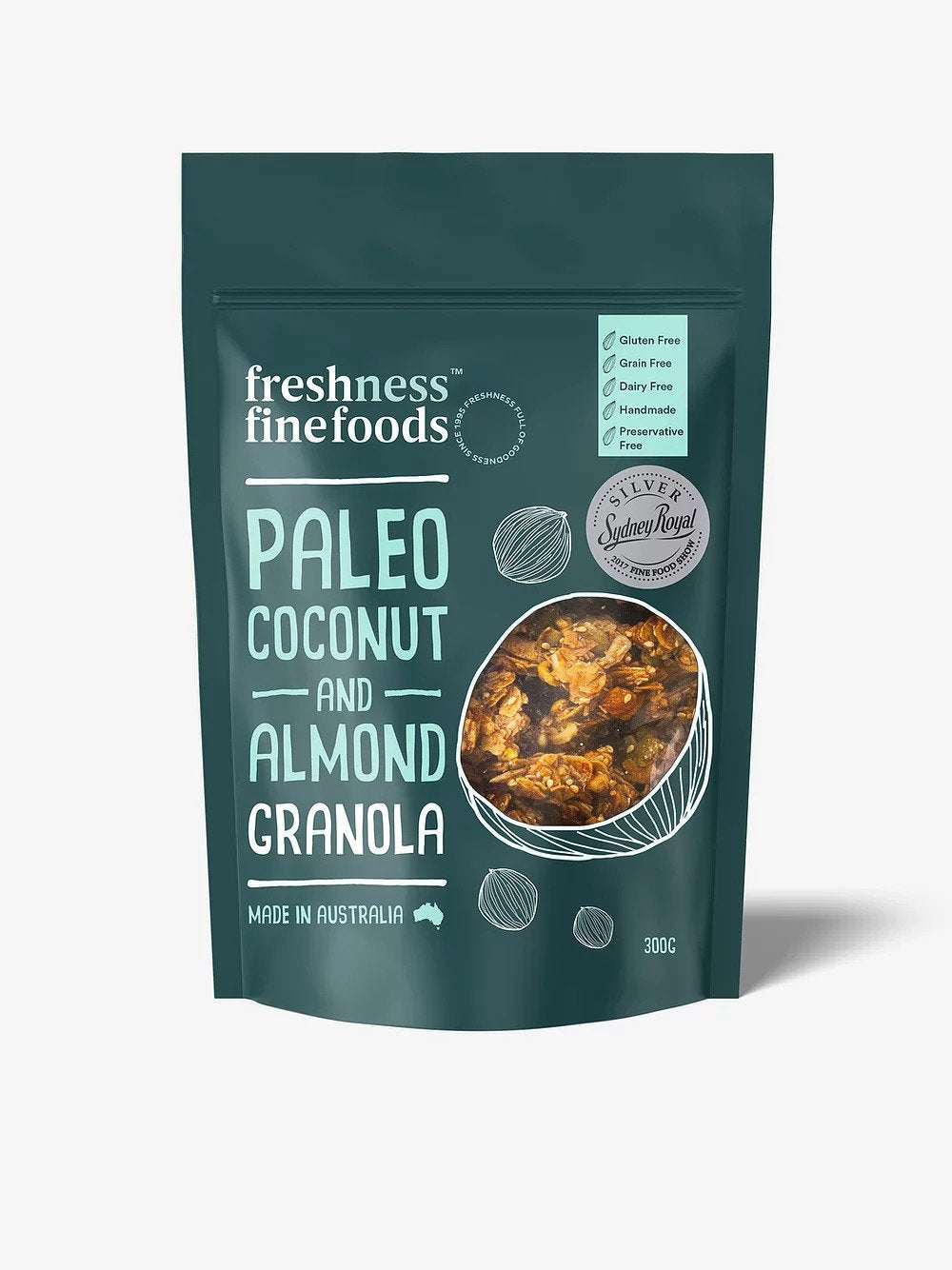 Freshness Finefoods Paleo Coconut and Almond Granola Grain free (300g) (box of 15)