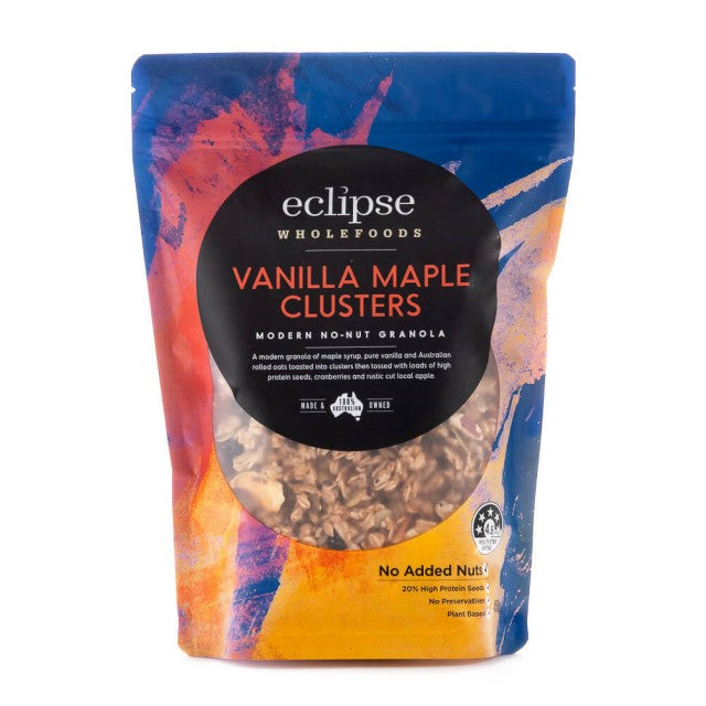 Eclipse Wholefoods Granola Vanilla Maple Clusters (450g) (box of 6)
