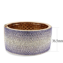 Load image into Gallery viewer, LO4279 - Rose Gold+e-coating Brass Bangle with Top Grade Crystal  in