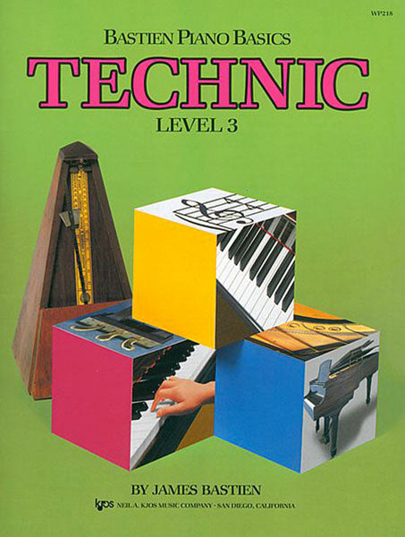 BASTIEN PIANO BASICS LEVEL 3 TECHNIC