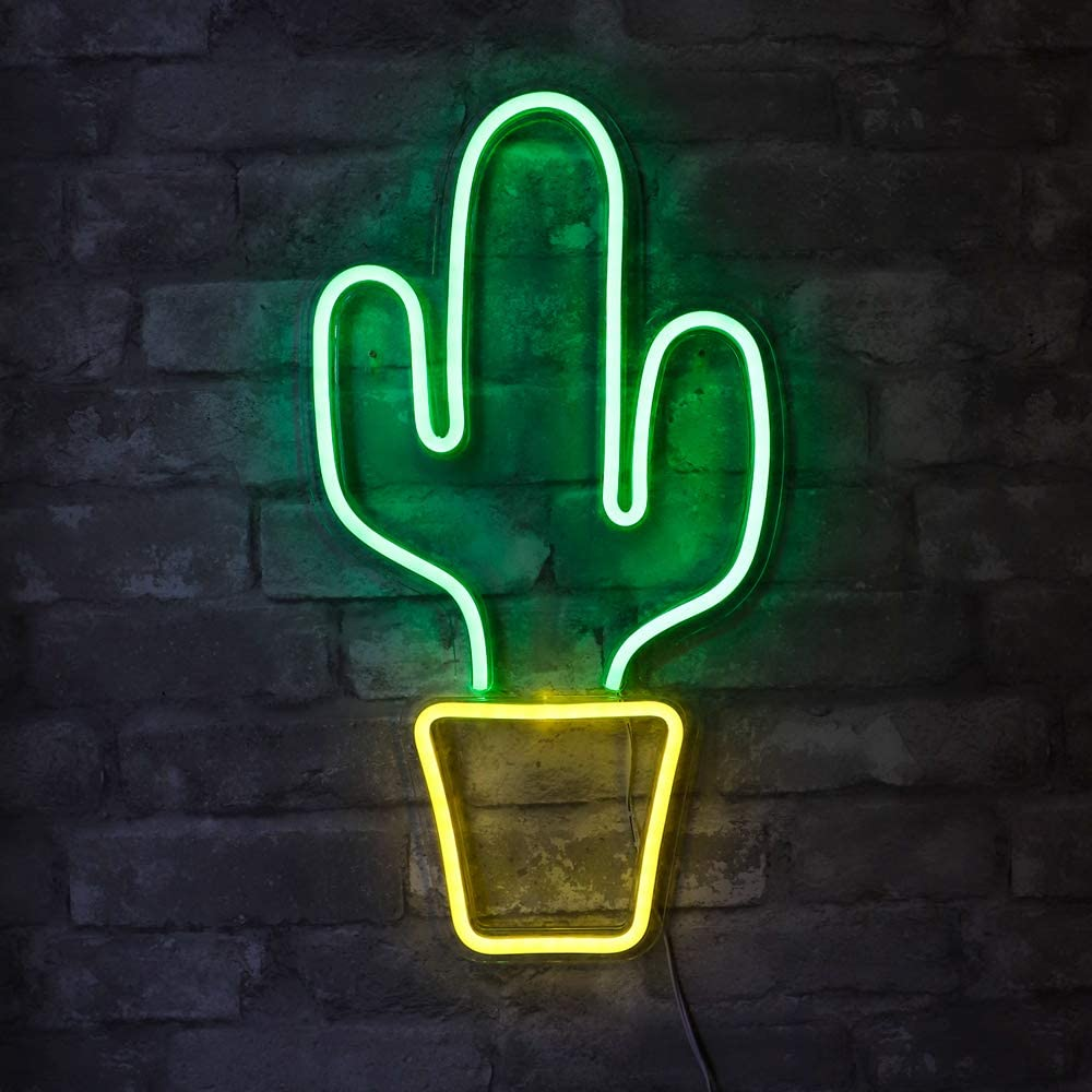 LED Neon Cactus Sign