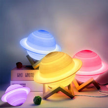 Load image into Gallery viewer, LED Saturn Lamp, 16 Color Remote Controlled 13cm