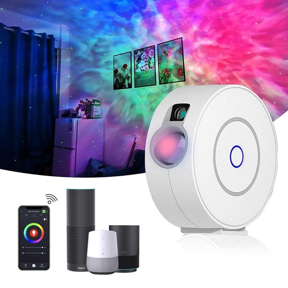 Smart Wifi Galaxy Projector, Starry Sky Projector Compatible w/ Alexa & Google Home