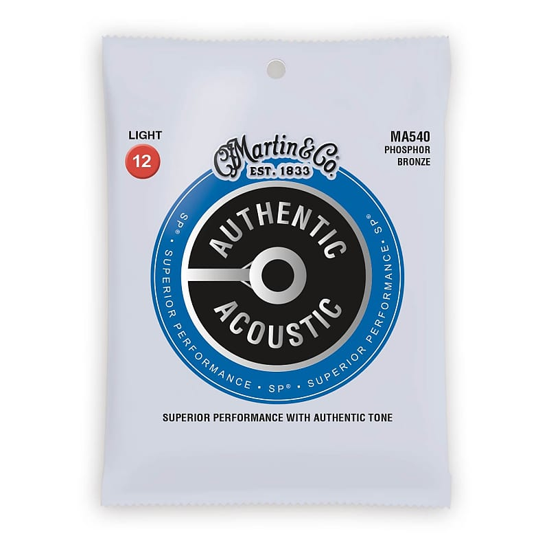 Martin Authentic Acoustic Strings Phosphor Bronze Light 12-54 MA540