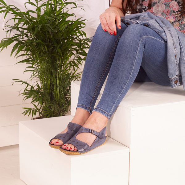 Shuropody Feeny Blue Supportive Sandals