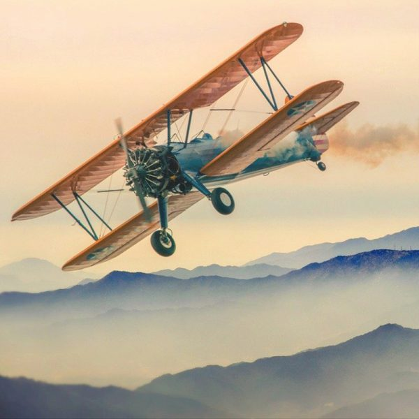 Flying around the world at an old age